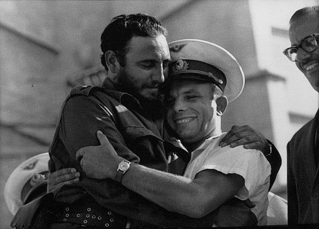 Yuri Gagarin Fidel Castro